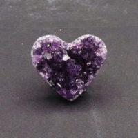 Uruguayan Amethyst Druze Heart (36mm x 31mm)