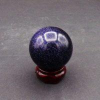 Blue Goldstone Sphere (38mm)