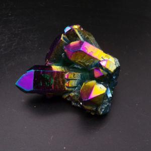 Titanium Aura Quartz Cluster (164g)