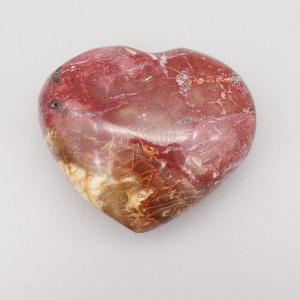 Fossilised Wood Polished Heart Carving (381g)