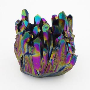 Titanium Aura Quartz Cluster (86g)